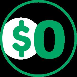0 Dollar Icon