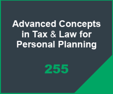 Advanced Concepts in Tax & Law for Personal Planning Icon
