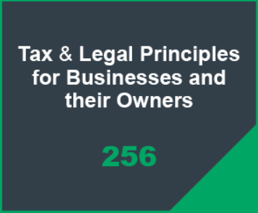 Tax & Legal Principles for Businesses and their Owners Icon