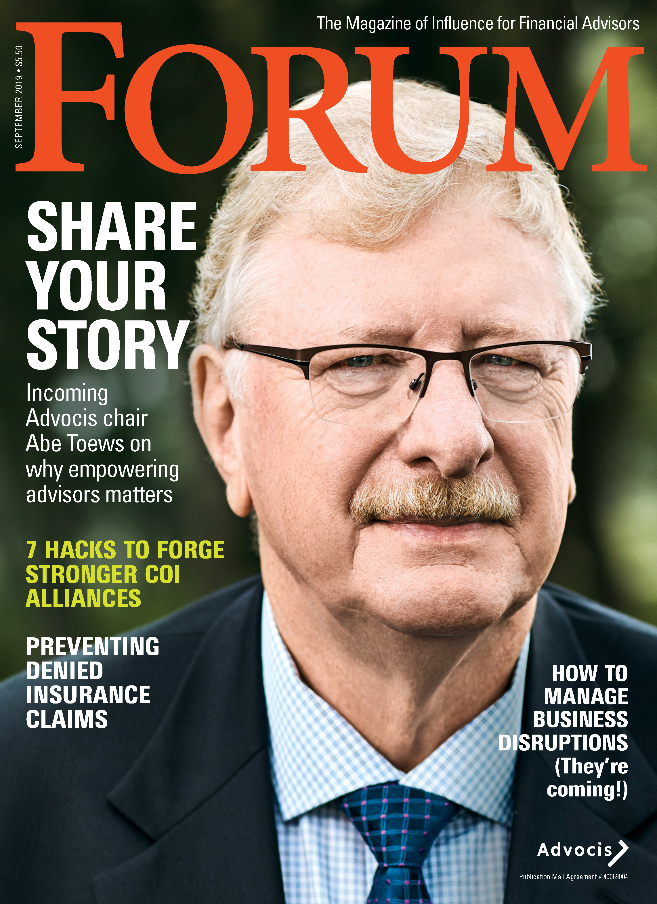 September FORUM 2019 Cover